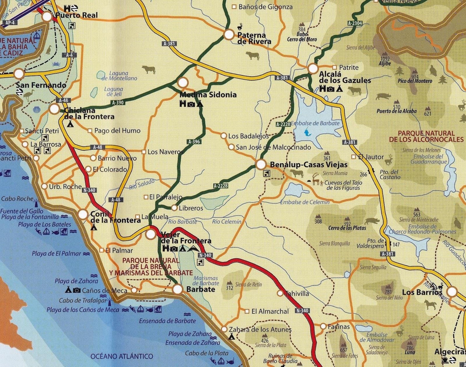 La Janda - mapa