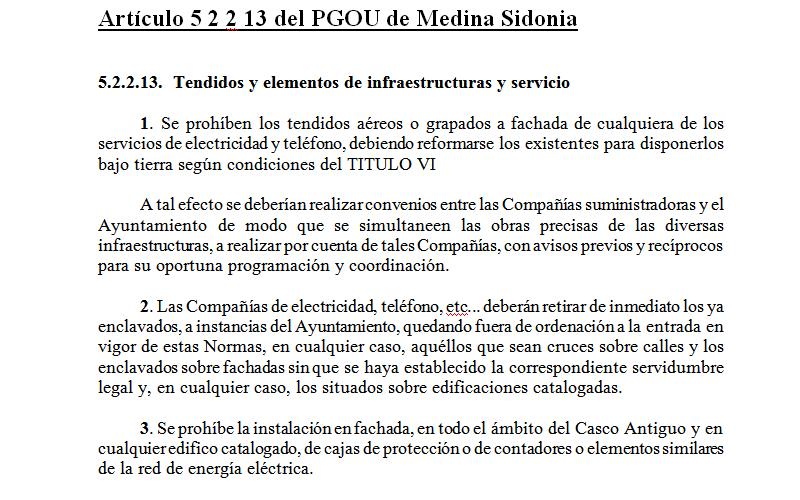 Artículo 5.2.2.13 del PGOU MS