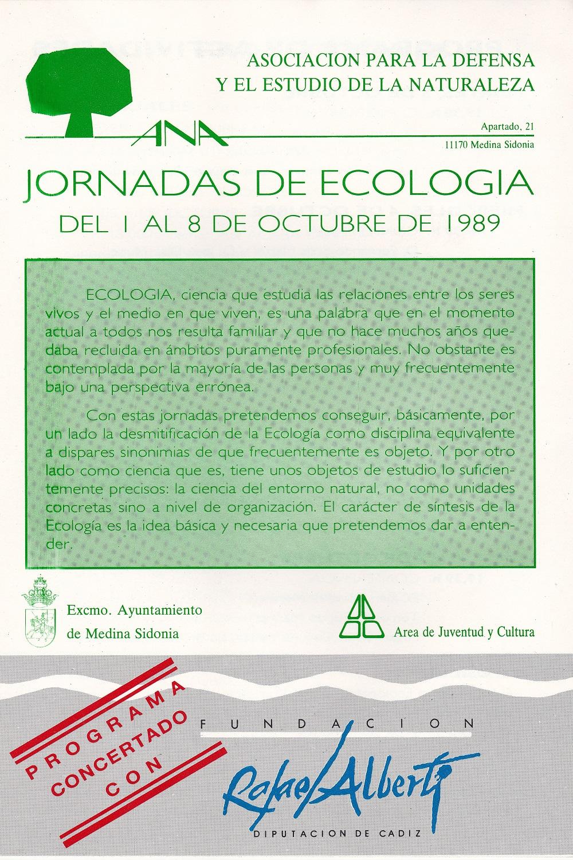 1989 Jornadas de Ecologia 1